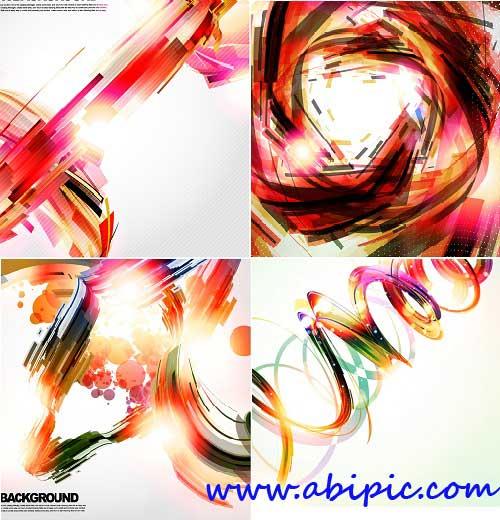 دانلود وکتور های بکگراند انتزائی شماره 6 Abstract creative background