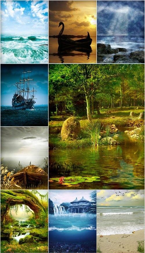 دانلود 30 عکس استوک از منظره شماره 2 Fantastic natural backgrounds
