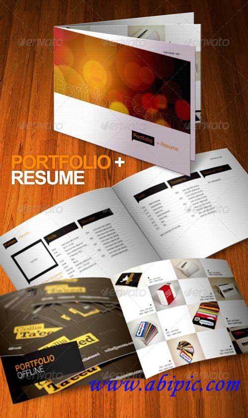 دانلود طرح لایه باز بروشور و رزومه 8 صفحه ای Portfolio Resume Brochure