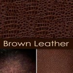 دانلود عکس استوک تکسچرهای چرمی A set of leather textures browns