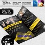 دانلود طرح لایه باز بروشور 3 لت شماره 3 Three Fold Brochure Template
