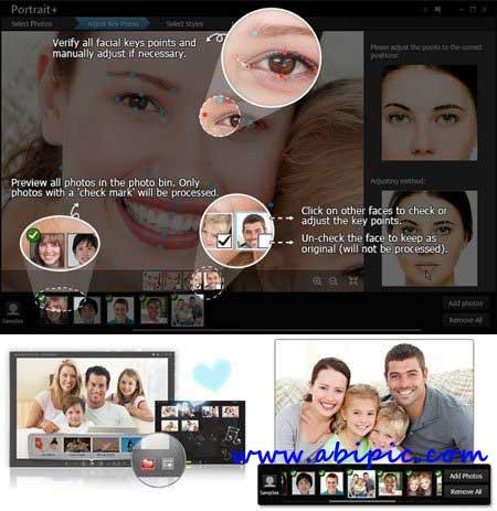 دانلود نرم افزار روتوش حرفه ای عکس ArcSoft Portrait Plus 1.1.0.128