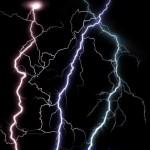 دانلود طرح لایه باز و PNG  رعد و برق با بکگراند شفاف Bright flashes of lightning