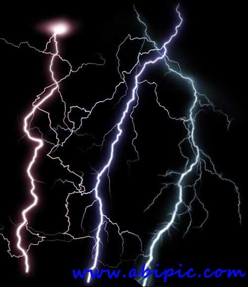 دانلود طرح لایه باز و PNG  رعد و برق Bright flashes of lightning