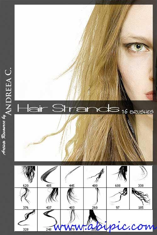 دانلود براش موی خانم ها برای فتوشاپ Brushes - Women's Hair