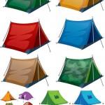دانلود وکتور انواع مختلف چادر Vectors – Camping equipment