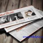 دانلود طرح لایه باز کارت ویزیت عکاسی Clean and Sleek Photographer Card