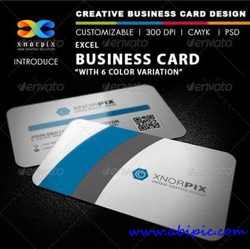 دانلود طرح لایه باز کارت ویزیت شماره 53 Excel Business Card