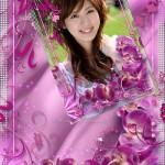 دانلود قاب عکس دیجیتال طراحی شده با گل ارکیده شماره 3