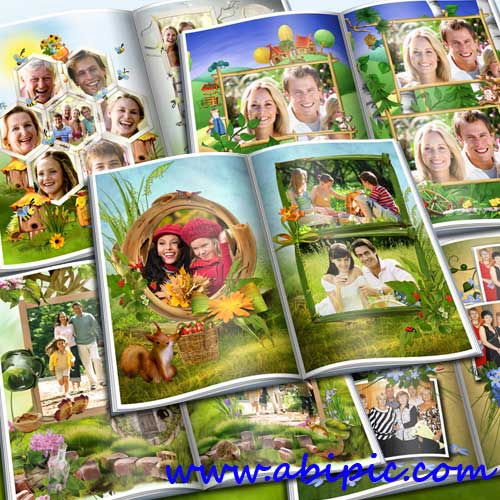 دانلود آلبوم عکس دیجیتال خانوادگی 11 صفحه ای با طرح تابستان