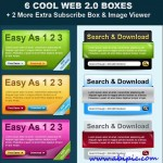 دانلود طرح لایه باز باکس های مختلف برای طراحی سایت  Web Boxes PSD