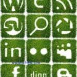 دانلود طرح لایه باز آیکون های با طرح چمن و سبزه Grass Icons set