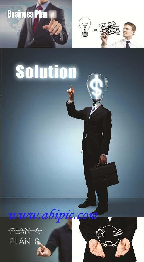 دانلود تصاویر ایستوک با موضوع یک ایده جدید Idea business plan Stock photo