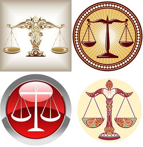 دانلود وکتور ترازوی عدالت و برابری Vector Libra