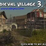 دانلود مدل 3 بعدی یک روستای قرون وسطی Medieval Village 3D model