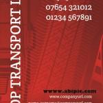 دانلود طرح کارت ویزیت شرکت حمل و نقل Transport Company Business Card