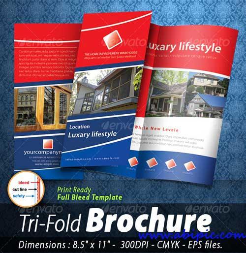 دانلود طرح آماده برشور 3 لت شماره 4 Tri-fold Brochure