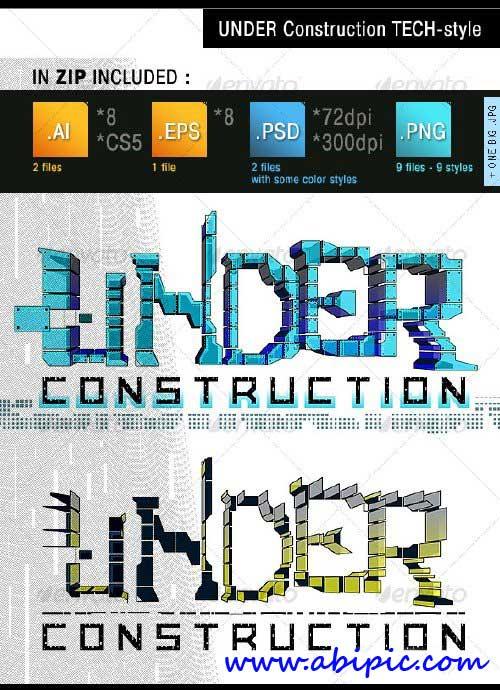 دانلود طرح های زیبا با موضوع در حال ساخت Under Construction Tech