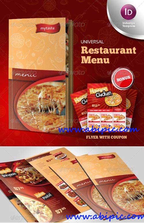 دانلود طرح آماده منوی رستوران و فست فود Universal Restaurant Menu