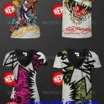 دانلود طرح لایه باز ساخت تی شرت V T-Shirt Mock-up Men & Women