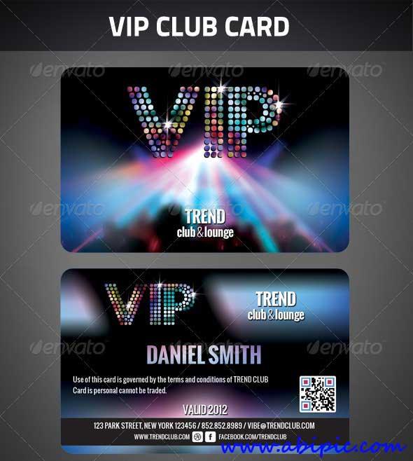 دانلود طرح لایه باز کارت عضویت ویژه برای باشگاه ها vip club membership card