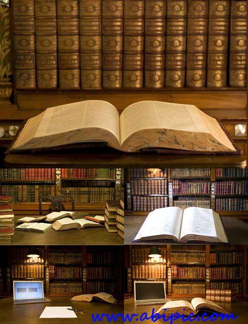 دانلود عکس استوک کتاب و کتابخانه Stock Photo Classical Library
