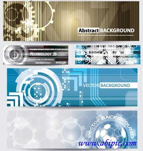 دانلود وکتور بنرهای آبسترکت Abstract technical banners شماره 12