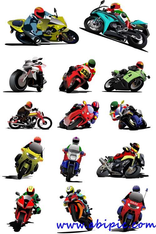 دانلود وکتور انواع مختلف موتور سیکلت Vectors - Different motorcycles