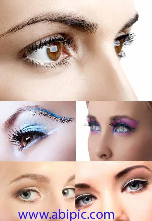 دانلود عکس های استوک کلوز آپ چشم Close up of the eyes Stock Photo