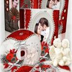دانلود PSD جلد و طرح روی DVD عروسی Vintage DVD set شماره 3