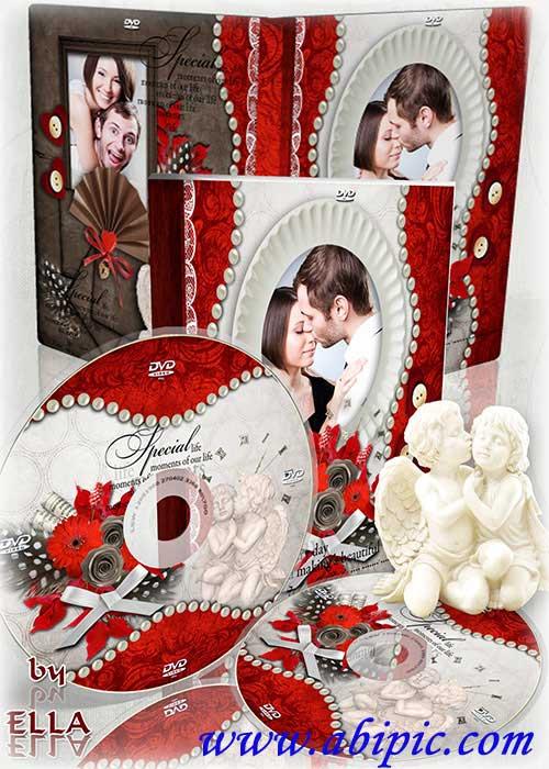 دانلود PSD جلد و طرح روی DVD عروسی Vintage DVD set