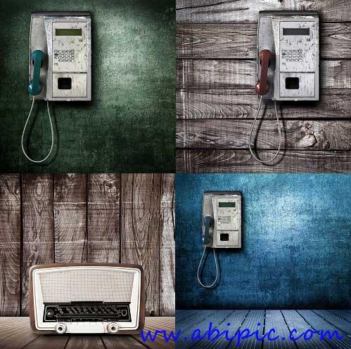 دانلود عکس های استوک از تلفن های عمومی و رادیو قدیمی