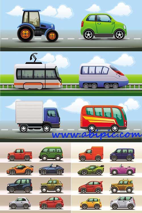 دانلود وکتور آیکون های وسایل حمل و نقل Transport Icons Vector