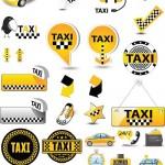 دانلود وکتور المان های تاکسی Vectors Vivid Taxi Elements