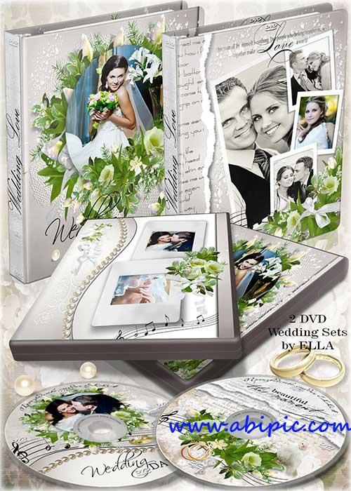 دانلود PSD کاور و طرح روی DVD برای عروسی شماره 5