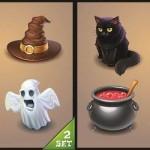 دانلود طرح وکتور ایکون های ترسناک هالووین Halloween Icons Vector