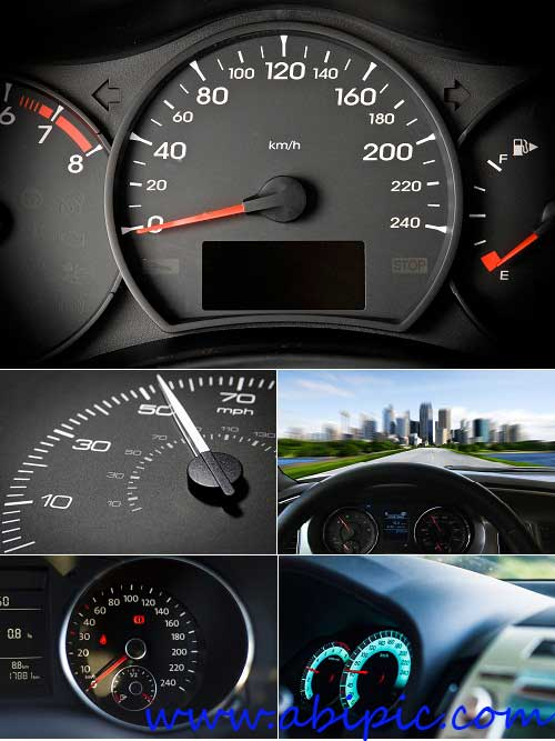 دانلود تصاویر استوک کیلومتر شمار ماشین Photos - Modern Speedometers