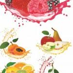 دانلود تصاویر استوک میوه های تازه و عصاره میوه Fruit juice splash photos