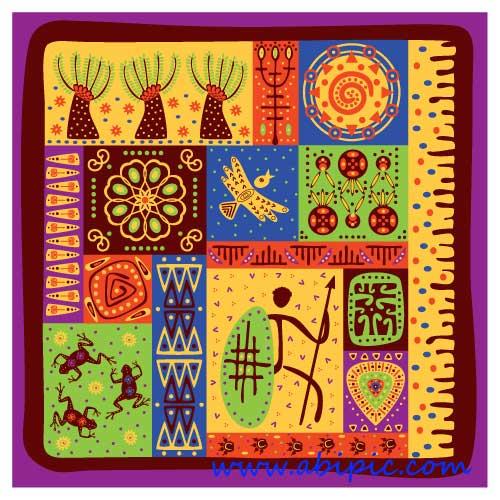 دانلود وکتور توتم های قبایل باستانی Classical tribal totem vector