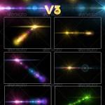دانلود طرح لنزهای و شراره های نورانی GraphicRiver Custom Lens Flares