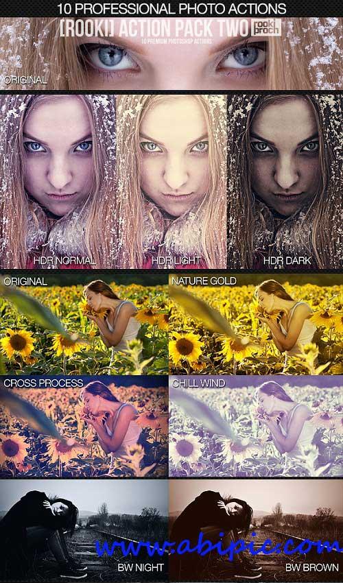 دانلود مجموعه 10 اکشن حرفه ای فتوشاپ Professional Photo Actions