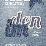 دانلود مجموعه ابزارهای ساخت طرح با افکت جین Denim Material Generator