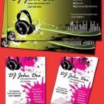 دانلود طرح لایه باز کارت ویزیت دیجی Dj Music Business Cards psd for Photoshop