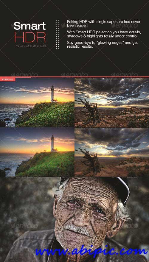 دانلود اکشن ساخت تصاویر HDR سری 4 Smart HDR Photoshop action