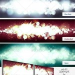 دانلود 7 تصاویر پس زمینه لایه باز نورانی Intense Flare Burst Backgrounds