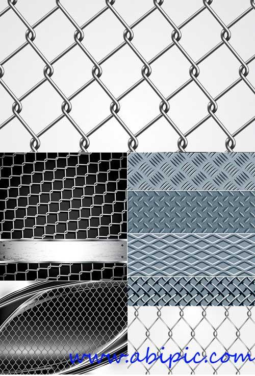 دانلود وکتور های استوک فنس و حصارهای فلزی Metal Fence Vector
