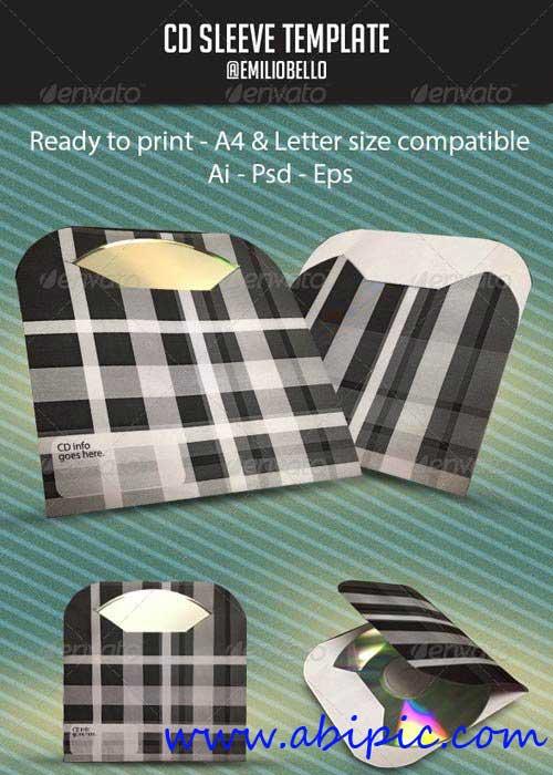 دانلود طرح لایه باز جلد و کاور کاغذی سی دی Minimal CD Sleeve
