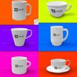 دانلود طرح Mock-Up چاپ لوگو بر روی لیوان و فنجان Photo realistic Cups