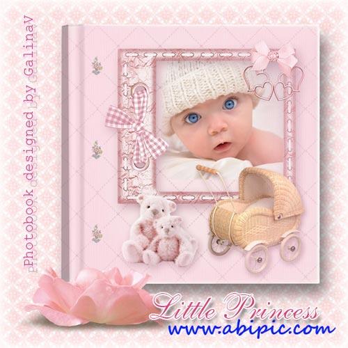 دانلود فون آتلیه کودک آلبوم شماره 2 Photobook for Baby Girl Little Princess