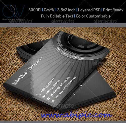 دانلود طرح لایه باز کارت ویزیت عکاسی Photographer Business Card شماره 2